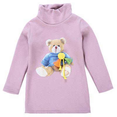Winter Children'S Baby Bear Stereoscopic Flowers and Cashmere Sweaters-TFY17686