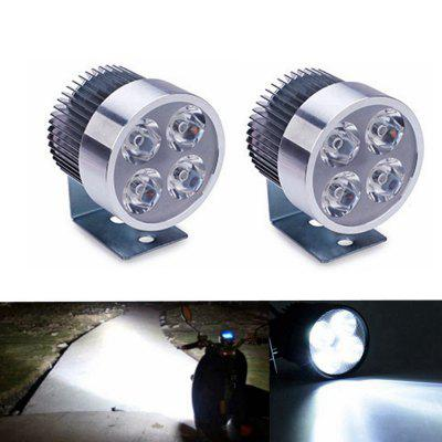 Sencart  Universal 4 LED Motorcycle Spot Light DC10-80V1000LM 6500K Headlight Lamp for Bicycles Motorcycles Cars Trucks