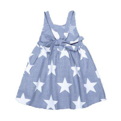 SOSOCOER Girls Dresses Stars and Stripes Stamp Backless Sleeveless SkirtGirls dresses<br>SOSOCOER Girls Dresses Stars and Stripes Stamp Backless Sleeveless Skirt<br><br>Brand: SOSOCOER<br>Dresses Length: Knee-Length<br>Material: Cotton<br>Neckline: Round Collar<br>Package Contents: 1 x Dress<br>Pattern Type: Striped<br>Season: Summer<br>Silhouette: A-Line<br>Sleeve Length: Sleeveless<br>Sleeve Type: Tank<br>Style: Cute<br>Weight: 0.1800kg<br>With Belt: No