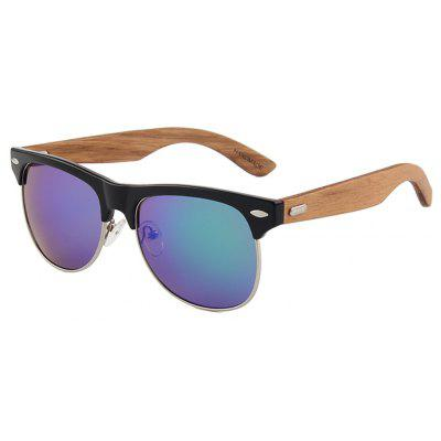 Fashion New Plastic Half Frame Sunglasses Unisex Metal Ring Wire Coated Wooden Foot Sunglasses 1029WMens Sunglasses<br>Fashion New Plastic Half Frame Sunglasses Unisex Metal Ring Wire Coated Wooden Foot Sunglasses 1029W<br><br>Frame material: Other<br>Gender: Unisex<br>Group: Adult<br>Lens material: CR-39<br>Package Contents: 1 x Pair of Sunglasses<br>Package size (L x W x H): 13.80 x 14.50 x 4.50 cm / 5.43 x 5.71 x 1.77 inches<br>Package weight: 0.0500 kg<br>Style: Oval