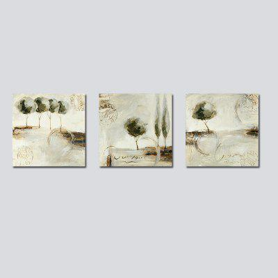 QiaoJiaHuaYuan No Frame Canvas Living Room Sofa Background Bedroom Decoration Hangs a Picture of Triplet of Abstract Pri