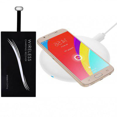 Minismile 5W/10W Ultra Slim Qi / QC Fast Quick Charge Wireless Charger Pad with Type-C Receiver Kit