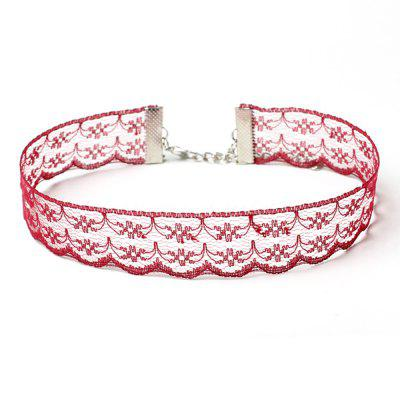 Red Lace Bride Necklace Sweet Choker Collar Accessories