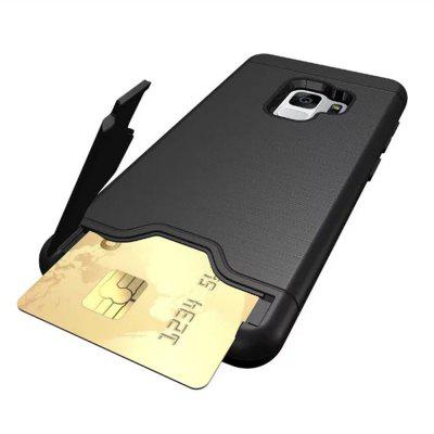 Case for Samsung Galaxy S9 Card Holder with Stand Back Cover Solid Color Hard PCSamsung S Series<br>Case for Samsung Galaxy S9 Card Holder with Stand Back Cover Solid Color Hard PC<br><br>Features: Back Cover, Cases with Stand, With Credit Card Holder, Anti-knock<br>For: Samsung Mobile Phone<br>Material: PC, TPU<br>Package Contents: 1 x Phone Case<br>Package size (L x W x H): 15.20 x 7.50 x 1.50 cm / 5.98 x 2.95 x 0.59 inches<br>Package weight: 0.0540 kg<br>Style: Solid Color