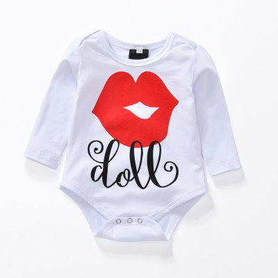 Summer Baby Newborn Toddler Red Lips Pantyhose Long Sleeves Jumpsuit Setbaby rompers<br>Summer Baby Newborn Toddler Red Lips Pantyhose Long Sleeves Jumpsuit Set<br><br>Closure Type: Covered Button<br>Collar: Round Neck<br>Decoration: Pattern<br>Fabric Type: Worsted<br>Gender: Girl<br>Material: Cotton<br>Package Contents: 1 x Suit<br>Pattern Style: Others<br>Season: Summer<br>Sleeve Length: Full<br>Sleeve Style: Regular<br>Style: Europe and the United States<br>Thickness: General<br>Weight: 0.2500kg