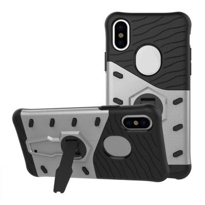 Cover Case for iPhone X Dual Layer Heavy Duty Hybrid Combo Shock-Resistant Full Body Protective Degree Rota