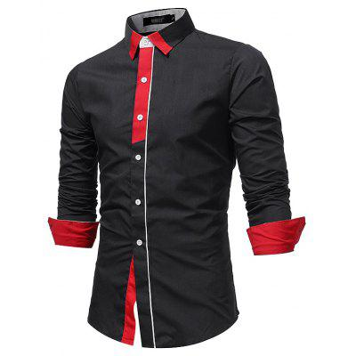 New Fashion,  Long Sleeved ShirtMens Shirts<br>New Fashion,  Long Sleeved Shirt<br><br>Collar: Turn-down Collar<br>Fabric Type: Broadcloth<br>Material: Cotton, Polyester<br>Package Contents: 1 X shirt<br>Shirts Type: Casual Shirts<br>Sleeve Length: Full<br>Weight: 0.3000kg