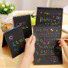 Doodling Painting Drawing Colorful Black Paper with Wood Stick - BLUE