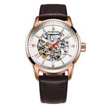 OCHSTIN 62001B Men Leather Mechanical Wrist Watch