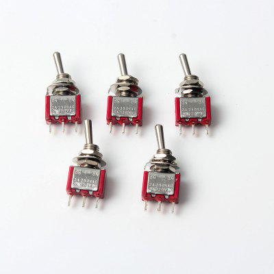 3P Toggle Switch for Electronics Diy 5A / 120VAC 2A / 250VAC (5Pcs)