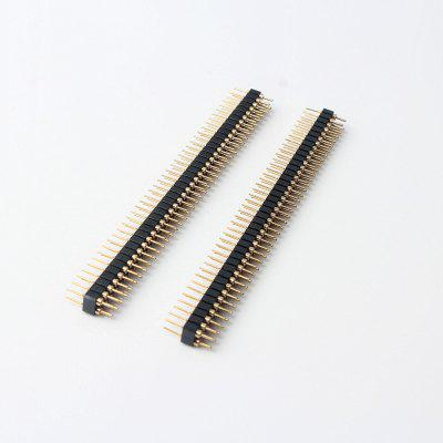 2.54 Double Row Hole Row Pin 2 x 40P 2.54MM Round Row Pin (2Pcs)