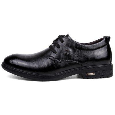 Super Fiber Rubber Sole Business and Leisure Single ShoesFormal Shoes<br>Super Fiber Rubber Sole Business and Leisure Single Shoes<br><br>Available Size: 41 42 43 44<br>Closure Type: Lace-Up<br>Embellishment: None<br>Gender: For Men<br>Outsole Material: Rubber<br>Package Contents: 1 xshoes(pair)<br>Pattern Type: Solid<br>Season: Spring/Fall<br>Toe Shape: Round Toe<br>Toe Style: Closed Toe<br>Upper Material: Full Grain Leather<br>Weight: 1.9800kg