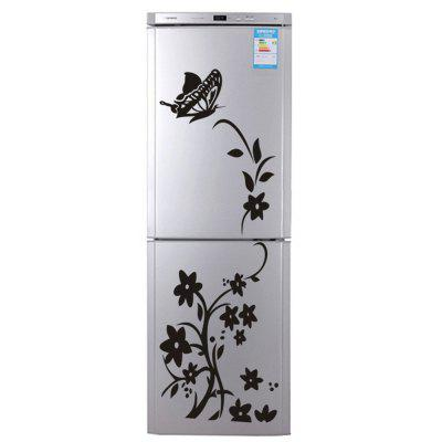 Butterfly Flower Rattan Art Decals for Refrigerator Decoration DIY Stickers