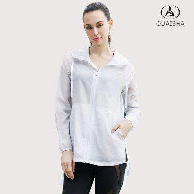 Fitness Running Super Thin Comfortable Spring Summer Sports WindbreakerJackets &amp; Coats<br>Fitness Running Super Thin Comfortable Spring Summer Sports Windbreaker<br><br>Closure Type: Zipper<br>Clothes Type: Trench<br>Collar: Hooded<br>Elasticity: Nonelastic<br>Embellishment: Adjustable Waist<br>Fabric Type: Jersey<br>Material: Polyester<br>Package Contents: 1 x coat<br>Pattern Type: Print<br>Shirt Length: Long<br>Sleeve Length: Full<br>Style: Active<br>Type: Wide-waisted<br>Weight: 0.2500kg