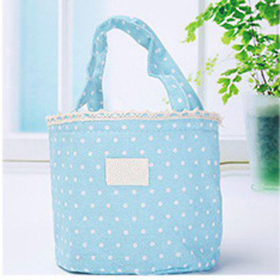 Lunch Bag Likable Sweet Polka Dots Pattern Canvas Portable BagOther Kitchen Accessories<br>Lunch Bag Likable Sweet Polka Dots Pattern Canvas Portable Bag<br><br>Material: Linen<br>Package Contents: 1 x Lunch Bag<br>Package size (L x W x H): 17.00 x 0.50 x 16.00 cm / 6.69 x 0.2 x 6.3 inches<br>Package weight: 0.1000 kg<br>Type: Other Kitchen Accessories