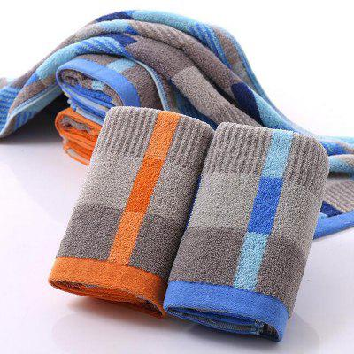 2 Pc Face Towel Cotton Blends Patchwork Pattern Cozy Towel