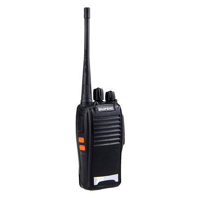 BAOFENG BF-777S 400~470MHz 2 Way Radio Walkie Talkie 5W 16CH UHF Interphone Transceiver Handheld IntercomWalkie Talkies<br>BAOFENG BF-777S 400~470MHz 2 Way Radio Walkie Talkie 5W 16CH UHF Interphone Transceiver Handheld Intercom<br><br>Brand: Baofeng<br>Channel Spacing: 400-470MHZ(UHF)<br>Channels: Under 20 Channel<br>Frequency Bands: UHF<br>Main Functions: English voice prompt<br>Package Contents: 1 x BAOFENG BF-777S Two-Way Radio, 1 x Dual Band Antenna, 1 x AC Adapter, 1 x Li-ion Battery, 1 x Belt Clip, 1 x Hand Strap, 1 x Instruction Manual.<br>Package Dimension: 19.00 x 11.00 x 5.00 cm / 7.48 x 4.33 x 1.97 inches<br>Package weight: 0.2500 kg<br>Product Dimension: 5.70 x 2.90 x 21.70 cm / 2.24 x 1.14 x 8.54 inches<br>Product weight: 0.1500 kg