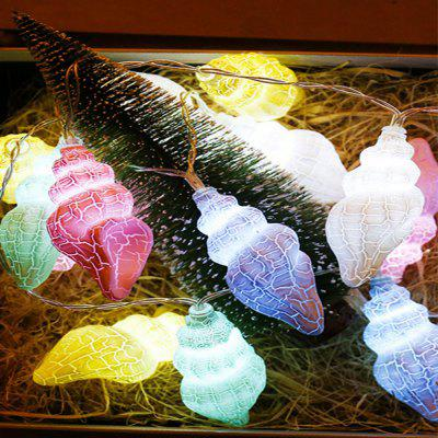 LED Crack Macaron Conch Decoration Christmas Modeling Lamp String
