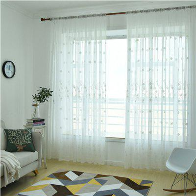 Embroidery Small Floral Screens CurtainsWindow Treatments<br>Embroidery Small Floral Screens Curtains<br><br>Crafts: Embroidery<br>Curtain Pattern: Feathers<br>Curtain Style: Modern Style<br>Curtain Type: Sheer Curtains Shades<br>Package Contents: 1 x Curtain<br>Package size (L x W x H): 30.00 x 20.00 x 5.00 cm / 11.81 x 7.87 x 1.97 inches<br>Package weight: 0.2800 kg<br>Top Construction: Double Pleated<br>Type: Sheer