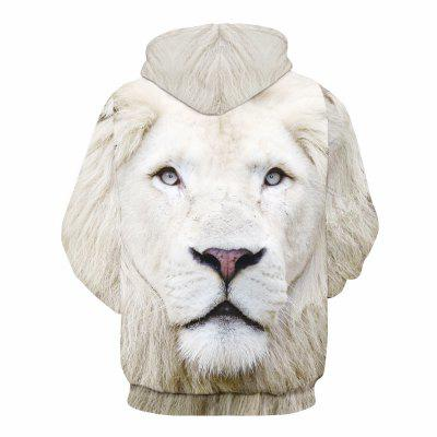 White Lion Headband Pocket Long-Sleeved SweatshirtMens Hoodies &amp; Sweatshirts<br>White Lion Headband Pocket Long-Sleeved Sweatshirt<br><br>Fabric Type: Broadcloth<br>Material: Polyester<br>Package Contents: 1 x hoodie<br>Shirt Length: Regular<br>Sleeve Length: Full<br>Style: Casual<br>Weight: 0.3500kg