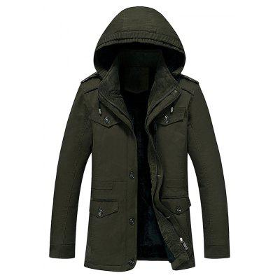 Hooded Fur Lining Jacket
