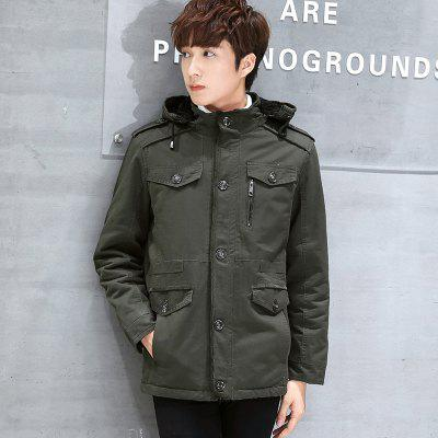 Hooded Fur Lining JacketMens Jackets &amp; Coats<br>Hooded Fur Lining Jacket<br><br>Clothes Type: Trench<br>FR8926HX: None<br>Materials: Cotton<br>Package Content: 1 x  Coat<br>Package size (L x W x H): 1.00 x 1.00 x 1.00 cm / 0.39 x 0.39 x 0.39 inches<br>Package weight: 0.8000 kg<br>Product weight: 0.7500 kg<br>Size1: M,L,XL,4XL,2XL,3XL