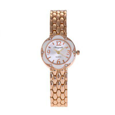 Chaoyada 8026 Fashionable Women Quartz Watch with Flower DialWomens Watches<br>Chaoyada 8026 Fashionable Women Quartz Watch with Flower Dial<br><br>Band material: Zinc Alloy<br>Brand: Chaoyada<br>Case material: Zinc Alloy<br>Display type: Analog<br>Movement type: Quartz watch<br>Package Contents: 1 x Watch<br>Package size (L x W x H): 8.50 x 8.50 x 5.30 cm / 3.35 x 3.35 x 2.09 inches<br>Package weight: 0.1060 kg<br>Product size (L x W x H): 19.00 x 2.50 x 0.90 cm / 7.48 x 0.98 x 0.35 inches<br>Product weight: 0.0410 kg<br>Shape of the dial: Round<br>Watch mirror: Mineral glass<br>Watch style: Fashion, Lovely, Childlike, Wristband Style, Retro, Casual, Classic<br>Watches categories: Women,Female table<br>Water resistance: Life water resistant