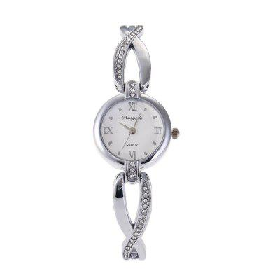 Chaoyada 8035  Round Dial Simple Style Bracelet Women WatchWomens Watches<br>Chaoyada 8035  Round Dial Simple Style Bracelet Women Watch<br><br>Band material: Zinc Alloy<br>Case material: Copper<br>Display type: Analog<br>Movement type: Quartz watch<br>Package Contents: 1 x Watch<br>Package size (L x W x H): 8.50 x 8.50 x 5.30 cm / 3.35 x 3.35 x 2.09 inches<br>Package weight: 0.1010 kg<br>Product size (L x W x H): 18.00 x 2.30 x 0.90 cm / 7.09 x 0.91 x 0.35 inches<br>Product weight: 0.0360 kg<br>Shape of the dial: Round<br>Watch mirror: Mineral glass<br>Watch style: Fashion, Childlike, Classic, Business, Lovely, Wristband Style, Casual<br>Watches categories: Women,Female table<br>Water resistance: Life water resistant