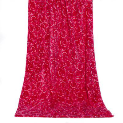 Cotton Red Rose Beach Towel