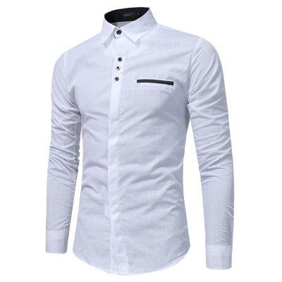 New  Simple Lattice Printed Slim  Tide Business Long-Sleeved ShirtMens Shirts<br>New  Simple Lattice Printed Slim  Tide Business Long-Sleeved Shirt<br><br>Collar: Turn-down Collar<br>Material: Polyester, Cotton Blends<br>Package Contents: 1x Shirt<br>Shirts Type: Casual Shirts<br>Sleeve Length: Full<br>Weight: 0.2200kg