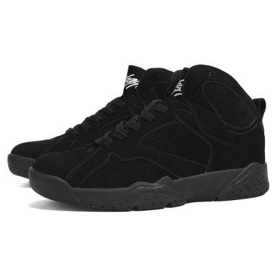 New Cushioning Sports Basketball ShoesMen's Sneakers<br>New Cushioning Sports Basketball Shoes<br><br>Available Size: 39-44<br>Closure Type: Lace-Up<br>Feature: Height Increasing<br>Gender: For Men<br>Outsole Material: Rubber<br>Package Contents: 1 x shoes(pair)<br>Package Size(L x W x H): 32.00 x 22.00 x 13.00 cm / 12.6 x 8.66 x 5.12 inches<br>Package weight: 0.7000 kg<br>Pattern Type: Solid<br>Season: Spring/Fall<br>Shoe Width: Medium(B/M)<br>Upper Material: Leather