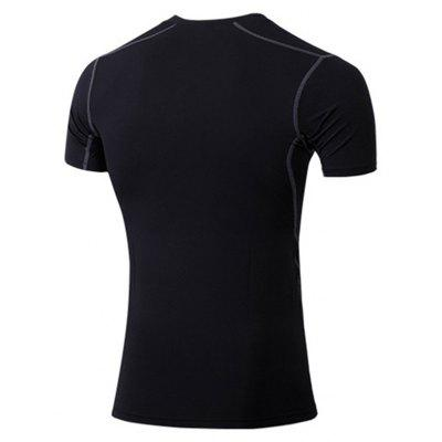 Tight-Fitting Fitness Sportswear Stretch Quick-Drying Clothing T-ShirtSport Clothing<br>Tight-Fitting Fitness Sportswear Stretch Quick-Drying Clothing T-Shirt<br><br>Material: Polyester, Spandex<br>Package Contents: 1 x T-shirt<br>Pattern Type: Solid<br>Weight: 0.1500kg