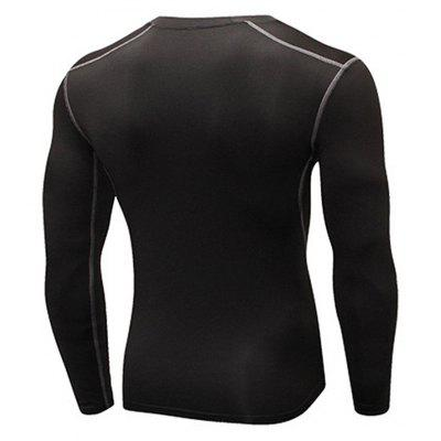 Mens Skinny Training Sports Fitness T-ShirtSport Clothing<br>Mens Skinny Training Sports Fitness T-Shirt<br><br>Material: Polyester, Spandex<br>Package Contents: 1 x T-shirt<br>Pattern Type: Solid<br>Weight: 0.1500kg