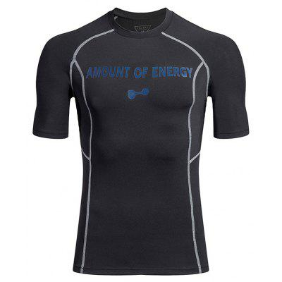 Temperature Change Exercise Fitness  Quick-Drying T-Shirt Compression Clothes
