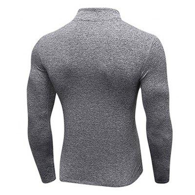 Men Training Long-Sleeved Elastic Tight-Fitting T-shirtSport Clothing<br>Men Training Long-Sleeved Elastic Tight-Fitting T-shirt<br><br>Material: Polyester, Spandex<br>Package Contents: 1 x T-shirt<br>Pattern Type: Solid<br>Weight: 0.2300kg