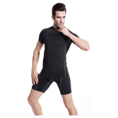 Mens Tight Fitness Running Training Stretch Quick-Drying Short-Sleeved T-ShirtSport Clothing<br>Mens Tight Fitness Running Training Stretch Quick-Drying Short-Sleeved T-Shirt<br><br>Material: Polyester, Spandex<br>Package Contents: 1 x T-shirt<br>Pattern Type: Solid<br>Weight: 0.1500kg