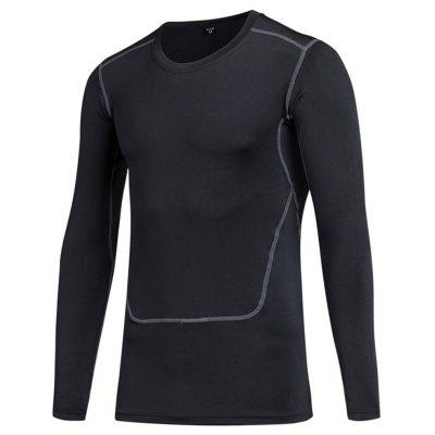 Men PRO Tight Long-Sleeved Fitness Sports Running Perspiration Quick-Drying Clothes T-Shirts