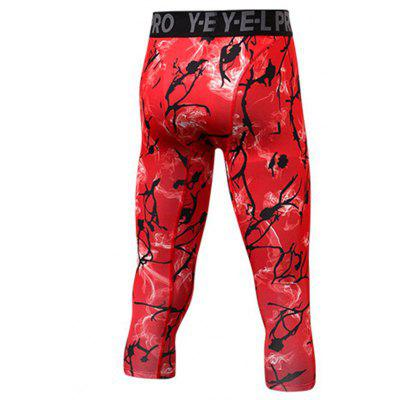 Mens PRO Sports Printed Fitness Running Tight-Elastic Quick-Drying Crop PantsSport Clothing<br>Mens PRO Sports Printed Fitness Running Tight-Elastic Quick-Drying Crop Pants<br><br>Material: Polyester, Spandex<br>Package Contents: 1 x Pants<br>Pattern Type: Print<br>Weight: 0.1400kg