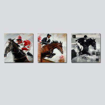 QiaoJiaHuaYuan No Frame Canvas Living Room Sofa Background Three Sets of Picture of the Warrior Decorated on Horseback