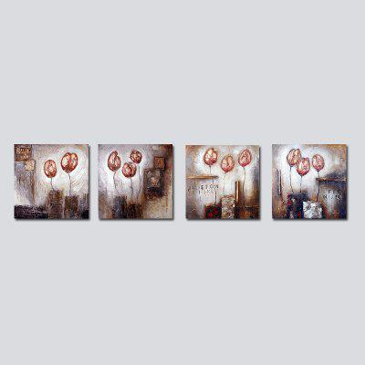 QiaoJiaHuaYuan No Frame Canvas Living Room Sofa Background Four Sets of Painting Abstract Painting