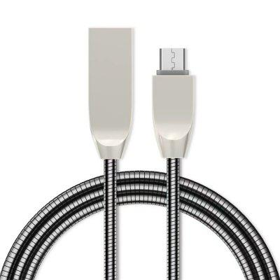 1M Liga de zinco Fast Charging Data Sync Micro USB Charger Cable para Android