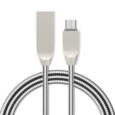1M Zinc Alloy Fast Charging Data Sync Micro USB Charger Cable for Android