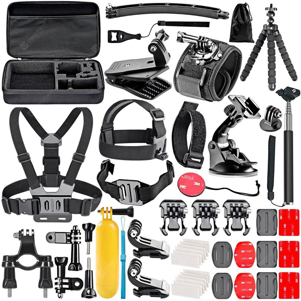 Accessories Kit for GoPro 6 Hero 5 Session 4 Silver 3 Black Sports Camera Set for Yi 4K/Lightdow/Dbpower/Dovob