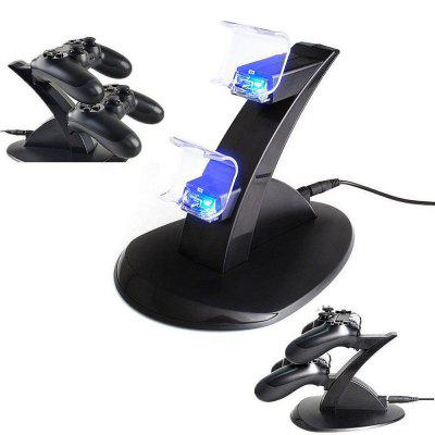 Dual USB Charger LED Station Dock Snel Opladen Standaard voor Sony PS4 Controller