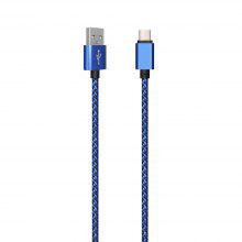 1Meter Nylon Braid Type-C USB Cable Output 2.0A Fast Charge Wire