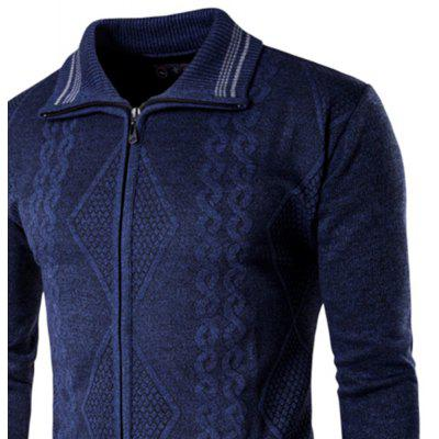 2018 Spring and Autumn  Slim Lapel  Leisure Sports CardiganMens Sweaters &amp; Cardigans<br>2018 Spring and Autumn  Slim Lapel  Leisure Sports Cardigan<br><br>Collar: Turn-down Collar<br>Hooded: No<br>Material: Wool, Lycra<br>Package Contents: 1?Sweater<br>Package size (L x W x H): 1.00 x 1.00 x 1.00 cm / 0.39 x 0.39 x 0.39 inches<br>Package weight: 0.4900 kg<br>Size1: M,L,XL,2XL<br>Sleeve Length: Full<br>Type: Cardigans