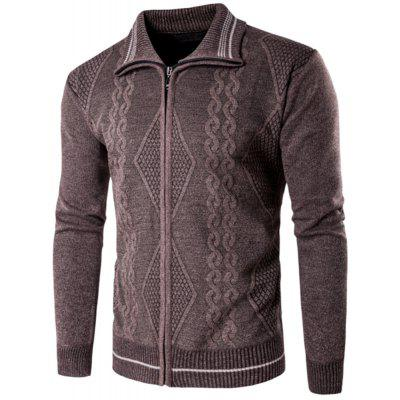 2018 Spring and Autumn  Slim Lapel  Leisure Sports Cardigan