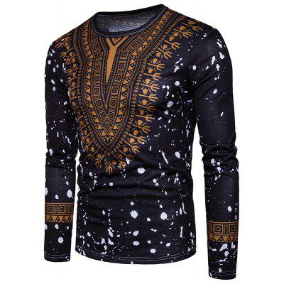 The New Spring Trade Supply Europe Code New Fashion Male Creative Folk Style Floral Print T-Shirt 3D