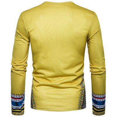 The New Spring Men Creative National 3D Long Sleeved T-ShirtMens Long Sleeves Tees<br>The New Spring Men Creative National 3D Long Sleeved T-Shirt<br><br>Collar: Round Neck<br>Embellishment: Vintage<br>Material: Cotton<br>Package Contents: 1xT-shirt<br>Pattern Type: Print<br>Sleeve Length: Full<br>Style: Casual<br>Weight: 0.3000kg