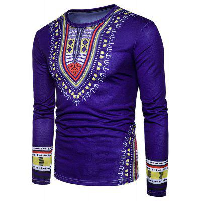 The New Spring Men Creative National 3D Long Sleeved T-Shirt
